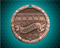 1 1/4 inch Bronze Perfect Attendance XR Medal