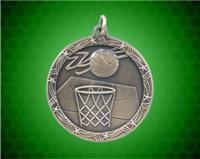 1 3/4 inch Gold Basketball Shooting Star Medal