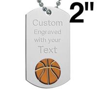 Basketball Dog Tags