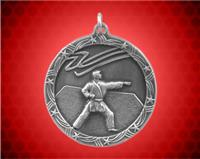 1 3/4 inch Silver Karate Shooting Star Medal