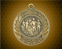 2 1/4 inch Gold Cross Country Galaxy Medal