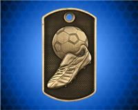 2 inch 3D Soccer Dog Tag
