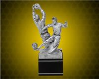 "8 1/2"" Male Black/Pewter Special Edition Soccer Resin"