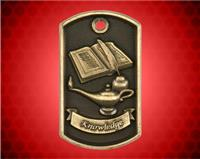 2 inch 3D Lamp of Knowledge Dog Tag