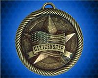 2 inch Gold Citizenship Value Medal