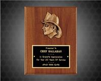 8 x 10 inch Wexford Series Plaque with Antique Bronze Fireman Casting