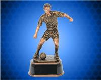 "13"" Male Gold/Bronze Soccer Resin"