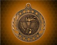 2 1/4 inch Bronze Torch Galaxy Medal