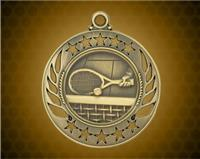 2 1/4 inch Gold Tennis Galaxy Medal