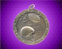2 1/2 inch Gold Football Shooting Star Medal