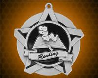 2 1/4 inch Silver Reading Super Star Medal