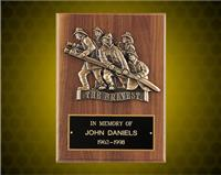 "9 x 12 inch Wexford Series Plaque with Antique Bronze Casting ""THE BRAVEST"""