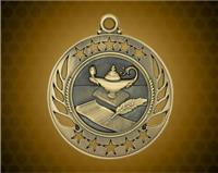 2 1/4 inch Gold Lamp of Knowledge Galaxy Medal