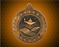2 1/4 inch Bronze Lamp of Knowledge Galaxy Medal