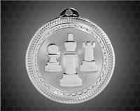 2 inch Silver Chess Laserable BriteLazer Medal
