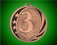 2 inch Bronze 3rd  Place Laserable MidNite Star Medal