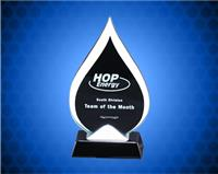 9 1/2 inch Tear-Drop Glass Award