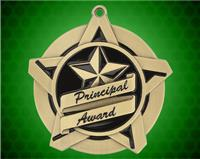 2 1/4 inch Gold Principal's Award Super Star Medal