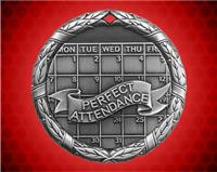 2 inch Silver Perfect Attendance XR Medal