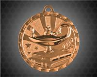 2 Inch Bronze Lamp of Knowledge Bright Medal
