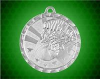2 Inch Silver Basketball Bright Medal