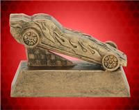 "6"" Gold Pinewood Derby Resin"