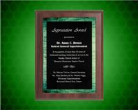 5 7/8 x 7 7/8 Inch Green Galaxy Acrylic Plaque