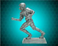 "8 1/4"" Pewter Football Runner Resin"