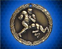 1 1/4 inch Gold Football XR Medal