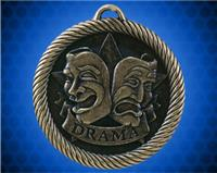 2 inch Gold Drama Value Medal