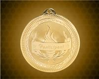 2 inch Gold Participant Laserable BriteLazer Medal