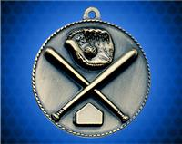 1 1/2 inch Gold Baseball Die Cast Medal