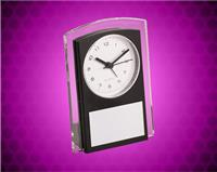 5 1/2 inch Black Promotional Plastic Clock
