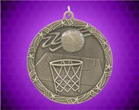 2 1/2 inch Gold Basketball Shooting Star Medal