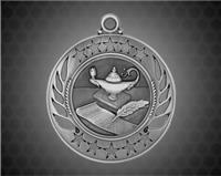 2 1/4 inch Silver Lamp of Knowledge Galaxy Medal