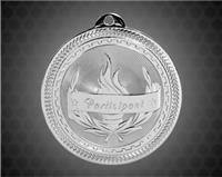 2 inch Silver Participant Laserable BriteLazer Medal