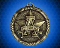 2 inch Gold Attendance Value Medal