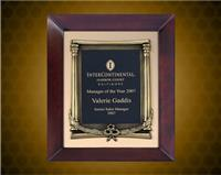 The 12 x 15 inch Cherry Finish Frame with Antique Bronze Metal Frame