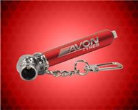 3 1/4 inch Red Tire Pressure Gauge with Keychain