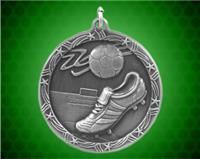 2 1/2 inch Silver Soccer Shooting Star Medal
