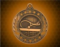 2 1/4 inch Bronze Tennis Galaxy Medal