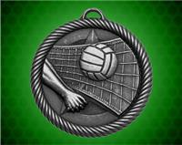 2 inch Silver Volleyball Value Medal