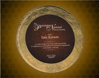 11 inch Gold/Burgundy Round Acrylic Art Plaque with Easel