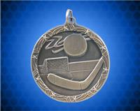 1 3/4 inch Gold Hockey Shooting Star Medal