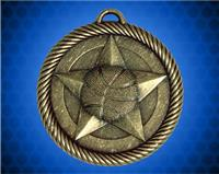 2 inch Gold Basketball Value Medal