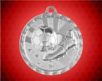 2 inch Silver Soccer Bright Medal
