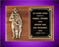 9 x 12 inch Wexford Series Firematic Award Plaque with Antique Bronze Fireman