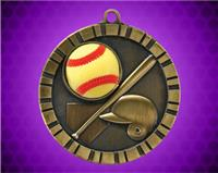 2 inch Softball 3-D Medal